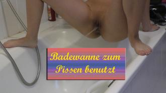 Badewanne als Großraumtoilette benutzt